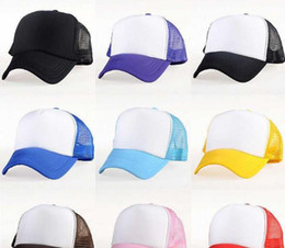 Wholesale Fitted Blank Caps - Kids Trucker fitted Cap Adult Mesh Caps Blank Trucker Hat Snapback Hats kid Adult Advertising cap