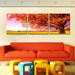 Wholesale Orange Trees Pictures - 3 Panel Free Shipping Hot Sell Canvas Art Modern Wall Painting Orange Tree Home Decorative Art Picture Paint on Canvas Prints