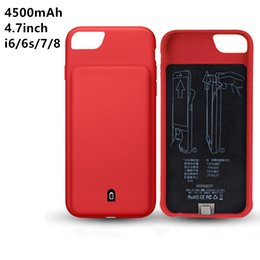 Wholesale Iphone Rechargeable Case External - 4500mAh External Battery Charger Case For iphone 6 6s 7 8 Portable Backup Power Bank Rechargeable Cases