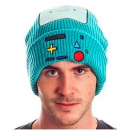 Wholesale Adventures Time - Adventure Time Beemo BMO Cosplay Cartoon Knitting Hat Wool Cap Finn Jack Fionna Princess Bubblegum Lemongrab Plush hat Beanie 6 styles