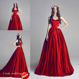 Wholesale Al Training - Amazing Hamda Al Fahim Red Evening Dress High Quality Sweetheart Long Women Wear Special Occasion Dress Prom Party Gown