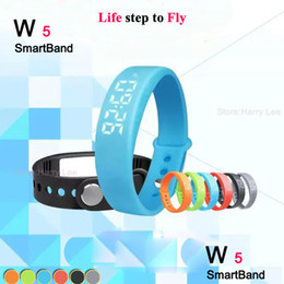 Wholesale Pedometers Calories Burned - 2016 NEW W5 Smart Watch Wristband Bracelet Bluetooth Sport Watch Pedometer Calory Record the burning calories