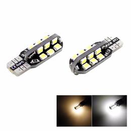 warme weiße led-keillampe Rabatt Auto Weiß / warmes LED-Licht 24 SMD 2835 LED PWB T10 W5W 147 Keil-Tür-Instrument-Seitenbirnen-Lampe DC 12V