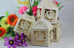 Wholesale Carton House - Hollow out candy box Roses sweet carton box Creative wedding joyful box 6*6*8cm free shiipping CD001