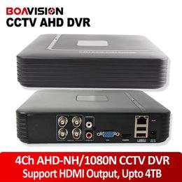 Wholesale Digital Video Recorder Hd Cctv - HD Mini 4Ch AHD-NH 1080N Or 960H Analog DVR Realtime Recording 960P 720P AHD DVR Video CCTV 4 Channel Digital Video Recorder