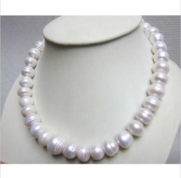 "Wholesale Huge Gray Baroque Pearls - NEW HUGE 15MM NATURAL SOUTH SEA WHITE BAROQUE PEARL NECKLACE 18"" 14K GOLD CLASP"