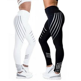 Wholesale Sports Trousers For Women - 2017 New Desinger leggings for women best Yoga Fitness Running Gym Stretch Sports Pants Trousers White Black Fashion Clothing