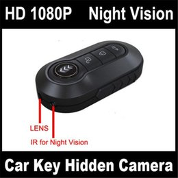 Wholesale Mini Hd Portable Camera Camcorder - 1920*1080P Metal Body Full HD Mini Car Key Remote Spy Hidden Camera Motion Detection with Night Vision Key DVR Portable Camcorder