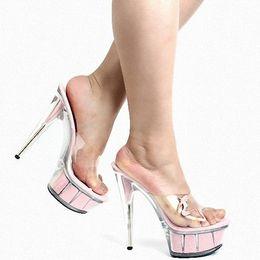 Wholesale Ladies Platform Slippers - rushed open toe ladies shoes sapatos femininos slippers women's ihch beauty decorative platform women high heels