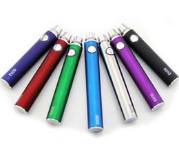 Wholesale Mini Mt3 Kit - DHL eVod Battery for E Cigarette Starter Kits 650 900 1100mAh evod batteries Various Colors for Mini Protank 3 MT3 GS H2 Clearomizer