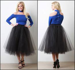 multi cores bola vestidos meninas Desconto 2016 Tutu Tulle Meninas Saias Na Altura Do Joelho-comprimento Cor Preta Sexy Saias para Meninas Custom Made Camadas Lace Ball Gown saias