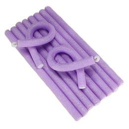 Wholesale Soft Bendy Foam Curlers - Wholesale-10Pcs Soft Foam Hair Styling DIY Rollers Curler Makers Bendy Twist Curls Tool
