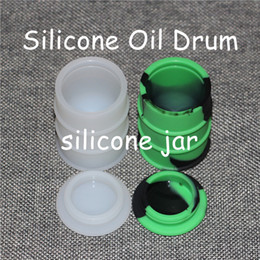 Wholesale Shapes Toys - Barrel shape big size 26ml wax bho oil dab oil wax silicone barrel rubber drum silicone jars container rubber for wax slick containers