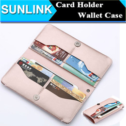 Wholesale Mobile C5 - 5.5 Inch Universal Leather Flip Mobile Phone Wallet Pouch For Galaxy S6 S7 Edge C3 C5 Core Prime iPhone 6 6s Plus Manual Phone Case Cover