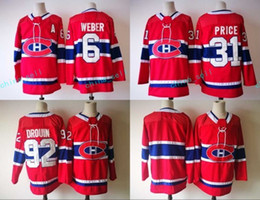 Wholesale Ads Flash - Mens 2018 New ad Montreal Canadiens Jersey 6 Shea Weber 31 Carey Price 92 Jonathan Drouin High Quality Hockey Jerseys