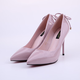 Wholesale Cute Stiletto Shoes - HEYIYI Women Shoes Brand Pumps Fashion Pointed Toe High Heels Stiletto Thin Heel Bowitie Cute High Quality Wholesale Shoes