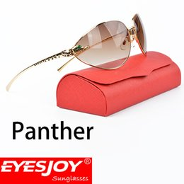 Wholesale brown spectacles - Gold Frame Spectacles Sunglasses Luxury Brand Designer Driving Sunglasses Case for Women Men Gradient Lens UV400 with Sun Glasses Box 1076