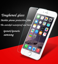 Wholesale Bubble Bag Iphone - High Quality Soft Bubble Package Bag High Transmittance Tempered Glass Screen Protectors for iPhone 5 5s 6 6s PLUS
