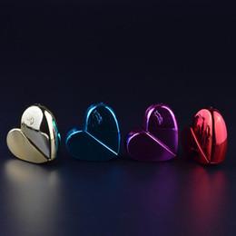 Bottiglie di toner online-Flacone spray per cosmetici Flacone per profumo portatile di alto livello Flacone di vetro per imballaggio di toner Flacone spray a forma di cuore