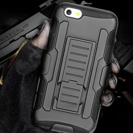 Wholesale Future Iphone - Future Armor Hybrid Case Military 3 in 1 Combo Cover For iPhone 4 4s 5 5s 5c 6 6s Plus Stand Case Triple Full Capa coque