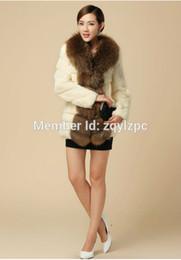 Wholesale Sell Rabbit Fur Coat - Wholesale-Cool Fashion New 2016 Tops Selling Luxury High-Grade Rabbit Fur Coat Plus Size