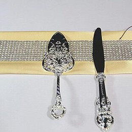 Conjunto do servidor da faca do casamento on-line-Supplies Set Wedding Party metal bolo de casamento Servidor E Faca Para
