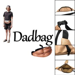 Wholesale Toys For Man Sale - Hot Sales 3D printed Dadbag Lifelike Muscle Fat Belly Pattern Nolvelty PU Pockets 1L Capacity Gadget for Boy Man
