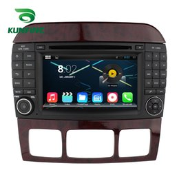 Wholesale 3g Android Car Stereo - Quad Core 1024*600 Android 5.1.1 Car DVD GPS Navigation Player Car Stereo for Benz S W220 1999-2006 Radio 3G Wifi Bluetooth