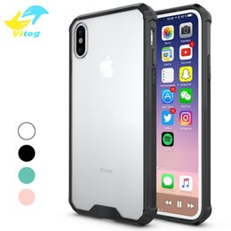 Wholesale rhinestone case for iphone - luxury case 4 colors Slim Hybrid Hard PC Back & Soft TPU Bumper Edge Case for iphone 6 7 8 plus iphone X samsung s7 edge s8 plus note8