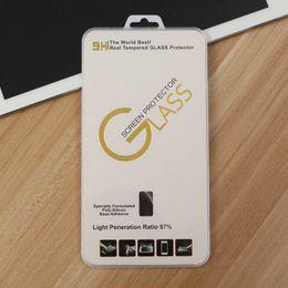 Wholesale Protective Plastic Boxes - Retail box for iphone 4 5 6 6s plus 7 7plus Explosion Proof Front Premium Tempered Glass For Premium Glass protective film 100pcs lot
