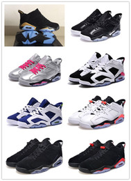 Wholesale Hot Pink Fur - Hot Air Retro 6 Low VI Maroon Black Red Infrared Frech Blue Oreo Basketball Shoes Men Women Size 5.5-13 Sneakers High Quality Version