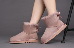 Wholesale High Ankle Boots Price - High quality women ankle boots waterproof real sheepskin perfect sutures abosutly super value winter boots cost prices sales