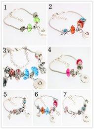 Wholesale Wholesale Pandora Bracelets Set - Noosa Bracelet Fashion Jewelry Interchangeable 18mm Ginger Snaps Button Women Pandora Bracelet Bangle Link Jewellery