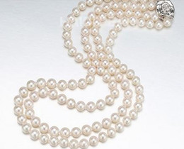 """Wholesale 925s silver - Classic 8-9mm south sea white round pearl necklace 18"""" 19"""" 925s"""