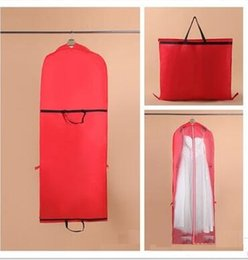 Wholesale Prom Garment Bag - Wedding Dresses Gowns Dust Cover Bags Prom Evening Party Mother Dress Bags Garment Thickening Cover Travel Storage Accessories WT034