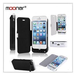 Wholesale External Back Up Battery Case - 4200mah Ultra Slim Pone Power Bank , Mobile phone Back Up battery, External Battery Cover Case for iPhone 5 with PU Leather Skin