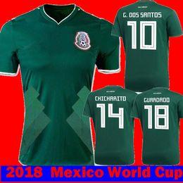 Wholesale 18 R - 2017 2018 Mexico HERRERA R MARQUEZ G.DOS SANTOS M LAYUN Soccer Jerseys 17 18 camisetas CHICHARITO GUARDADO C.VELA R.JIMENEZ Football Shirts