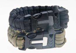 Wholesale Survival Bracelet U Clasp - 2016 Hot Sale Survival Bracelets Paracord Parachute Camping Bracelet Stainless Steel U Clasp Escape Life-saving Bracelet