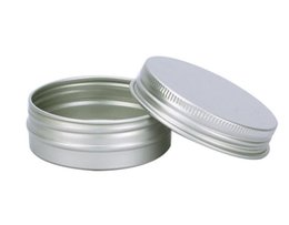 Wholesale Aluminium Cosmetic Containers - 5 10 15 30 60 100 150 200 250 ml Empty Aluminium Cosmetic Containers Pot Lip Balm Jar Tin For Cream Ointment Hand Cream Packaging Box