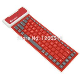Wholesale Wireless Flexible Keyboards - Mini Waterproof Silicone Wireless Bluetooth Flexible Foldable Keyboard Tensile USB Cable Universal For iPhone Samsung iPad