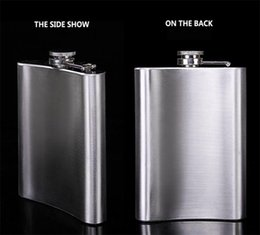 Wholesale Portable Steel - New hot 8 ounce stainless steel hip flasks portable flasks pocket flask flagon flask 100PCS 1777