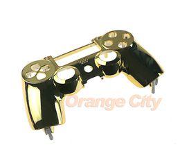 Couvercle du boîtier du contrôleur ps4 en Ligne-Chrome Logement Haut Avant Supérieur Coque Housse Réparation pour Sony Playstation 4 PS4 Sans Fil Contrôleur Haute Qualité