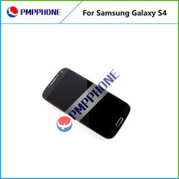 Wholesale Galaxy S4 I545 - For Samsung Galaxy S4 i9500 9505 I545 I337 White and blue Touch LCD Screen Digitizer + Frame Replacement with Fast DHL ship