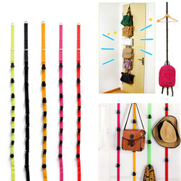 Wholesale Plastic Shelve - Stylish Fashion Over Door Hat Bag Clothes Coat Rack Holder Organizer Adjustable Straps Hanger Lowest Price