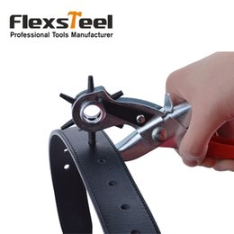 """Wholesale Stainless Steel Punch - FREE SHIPPING Good Quality 8.5"""" 215MM Leather Hole Punch Plier For Belts ,Paper, Card& Custom Punching with Multi Size"""
