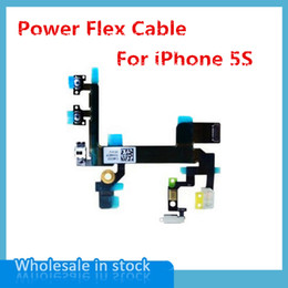 Wholesale Iphone 5s Cable Oem - 50pcs lot NEW Power Mute Volume Control Button Switch on off Power Flex Cable for iPhone 5S OEM free shipping