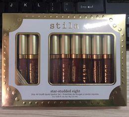 Wholesale Lip Stay - Stila Star-studded Eight Stay All Days Liquid Lipstick set 8pcs  box Long Lasting Creamy Shimmer Liquid Lipstick Lip Gloss