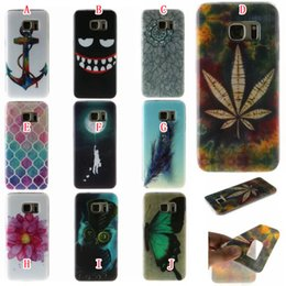 Wholesale S4 Mini Silicon - Flower Soft TPU Case For Samsung Galaxy J510 2016 J5 S4 MINI I9190 I9082 Cartoon Leaf Feather Owl Anchor Butterfly Silicon Rubber Skin Cover