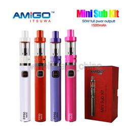 Wholesale Vogue Mini - Genuine Amigo FP50 Mini Sub Kit FP50 kIT 50W 2200mAh Battery 0.3-3.0ohm 6 Colors Available VS Vogue 50w E Cigarette Kits