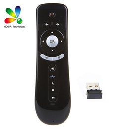 Wholesale Hand Motion Mouse - Gyroscope Mini Fly Air Mouse T2 2.4G Wireless Android Remote Control 3D Sense Motion Stick For MXQ M8S S905X Android TV BOX